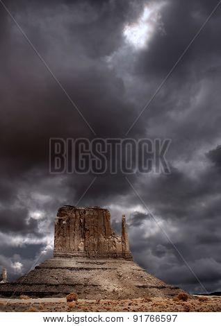 Cloudy Skies Monument Valley