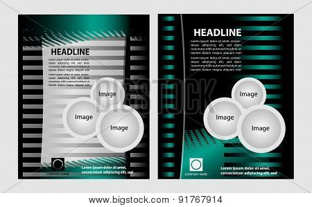 Vector business brochure, flyer, magazine cover & poster template