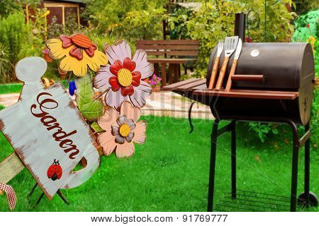 Weekend Backyard Party Or Picnic Concept