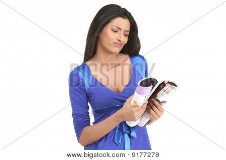 Revista de lectura de mujer