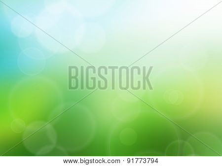 Summer bokeh background illustration
