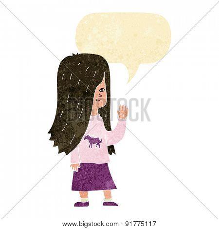 cartoon girl with pony shirt