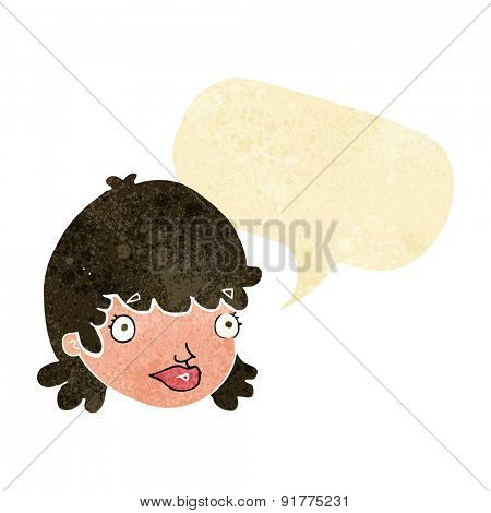 cartoon person with speech bubble