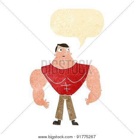 cartoon strong guy