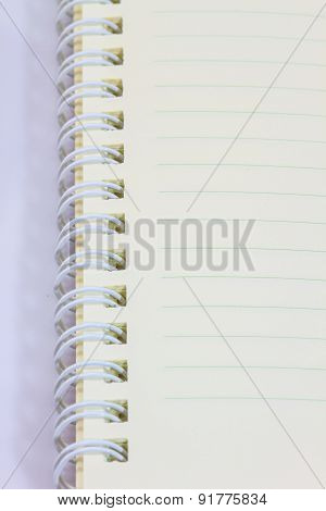 ring notebook  blank on white background