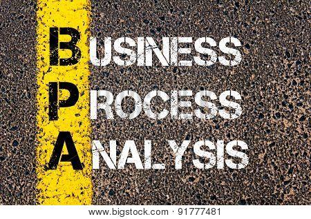 Business Acronym Bpa As Business Process Analysis