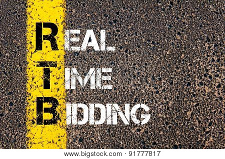 Business Acronym Rtb As Real Time Bidding
