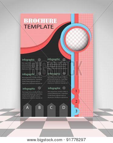 Pink, Blue And Black Flyer Design