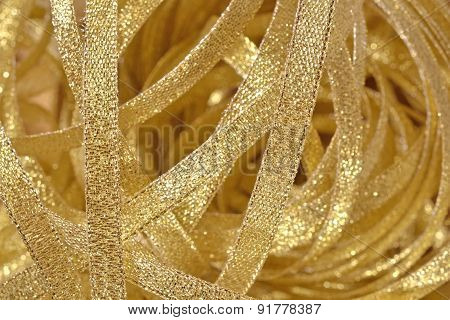 Golden Ribbons Close Up