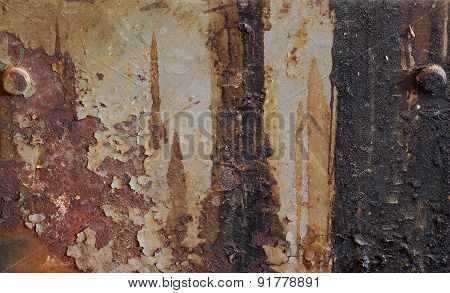 Old Grunge Metal Texture With Bolts