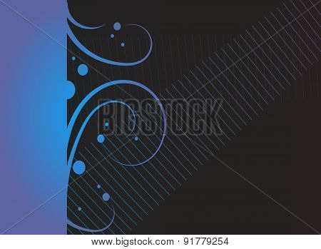 Blue Black Ornaments Background