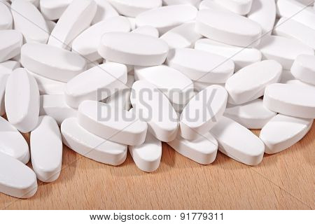 Heap Of White Pills
