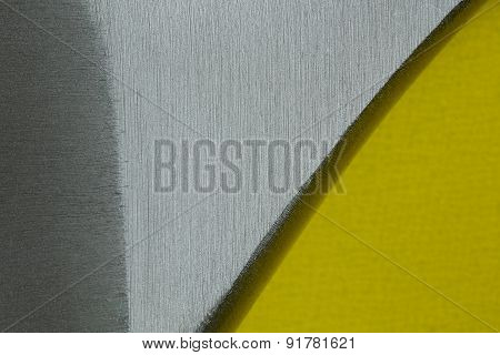 Steel Background With Yellow