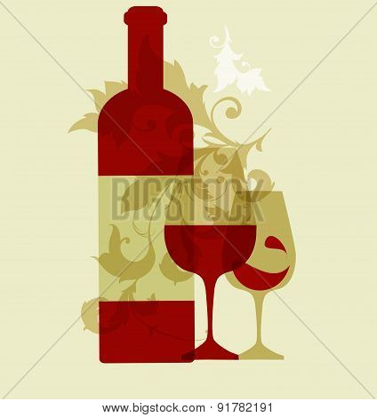 wine collection 2015, glasses and bottle