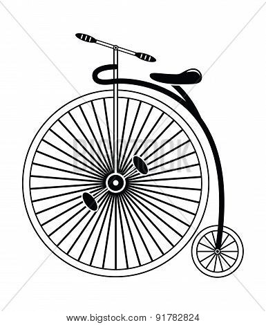 Vintage bike type 2 in black and white design