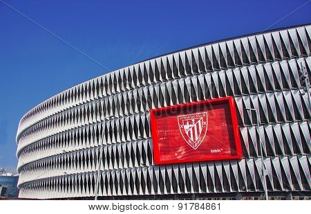 BILBAO, SPAIN, MAY 28, 2015: View of the San Mames football stadium on May 28, 2015 in Bilbao, Basqu