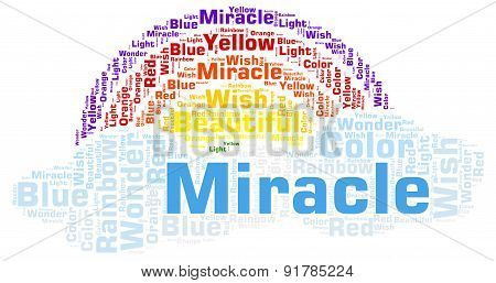 Miracle - Rainbow Shape Word Cloud