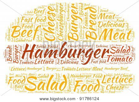 Hamburger - Word Cloud