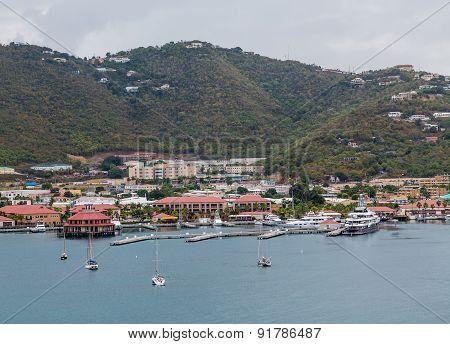 Sailboats And Yachts At St Thomas