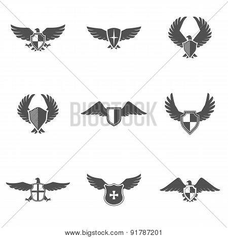 Eagle Icon Shield Set