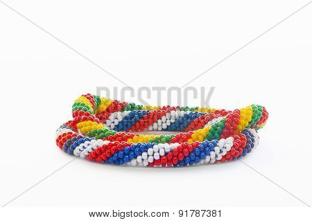 Two Colorful Plastic Bracelets