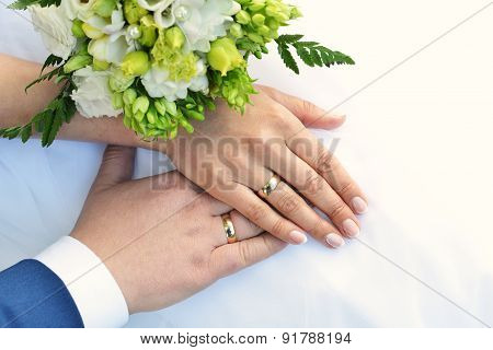 Hands And Bouquet
