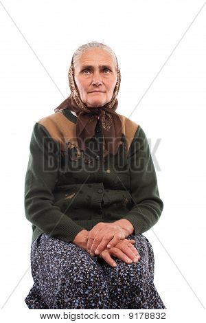 Senior Woman Isolated On White