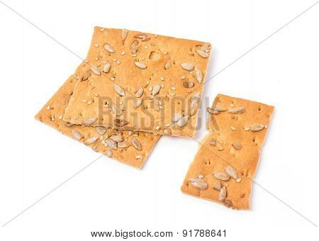 Cereal Biscuits Isolated On A White Background