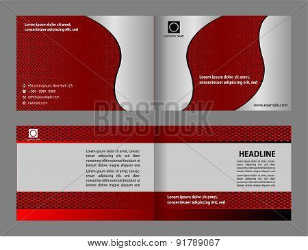 Red brochure template design.Cover layout