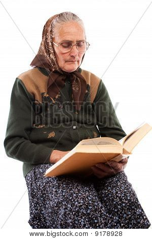 Senior Woman Reading