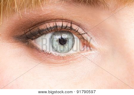 Female Eye Make Up Close Up Image