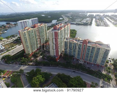 Buildings in Sunny Isles