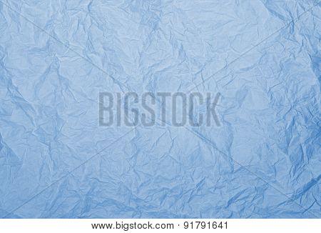 Blue Rumpled Paper Texture