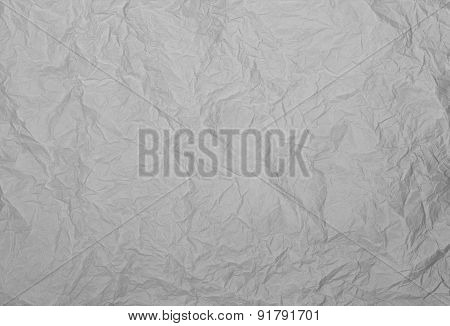 Gray Rumpled Paper Texture