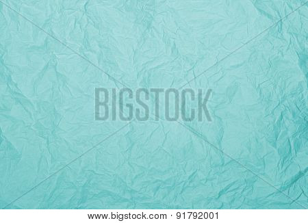 Turquoise Rumpled Paper Texture