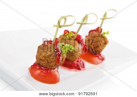 Delicious Meatballs.