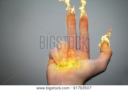 Fingers of candles