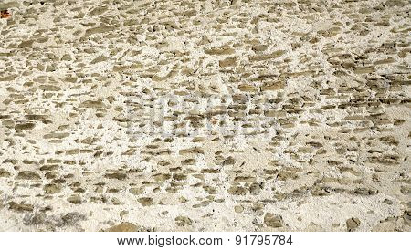 Rough Wall Stone Texture Close Up Horizontal Of Castle In Lucerne