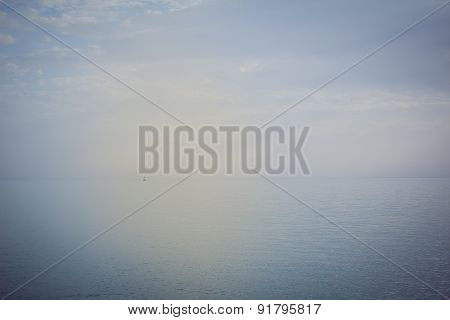 Sailboat sailing on the open sea