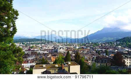 Viewpoints From Historical Castle In Lucerne
