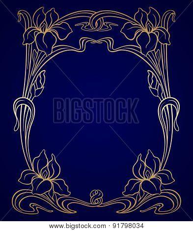 Vector Art Nouveau Ornament.