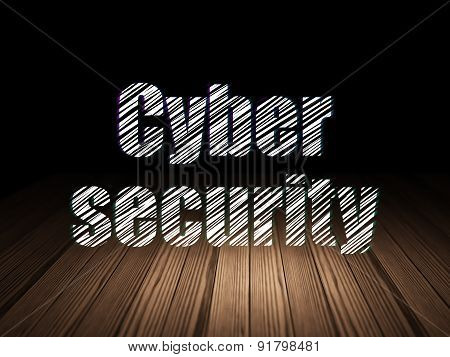 Privacy concept: Cyber Security in grunge dark room