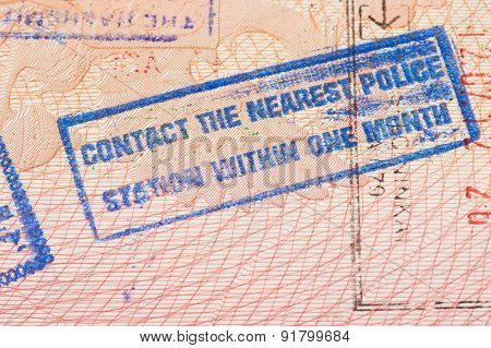 Passport page with Jordan immigration control stamp.