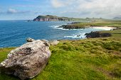 pic of cliffs  - Cliffs on the coastline at Slea Head Dingle Ireland - JPG