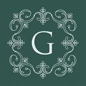 image of gamma  - Elegant style vector monogram design template in green gamma - JPG