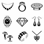 image of precious stone  - Collection of black - JPG