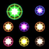 foto of starlet  - vector glowing lights - JPG