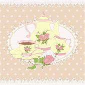 picture of teapot  - Vector composition teapot - JPG