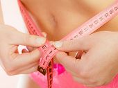 stock photo of measurements  - Weight loss healthy lifestyle concept - JPG