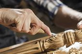 stock photo of carpenter  - Close up of carpenter - JPG